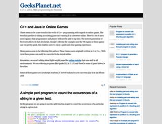 geeksplanet.net screenshot