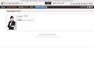 geeky.designshuffle.com screenshot