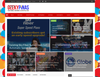 geekypinas.com screenshot