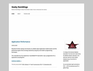geekyramblings.net screenshot