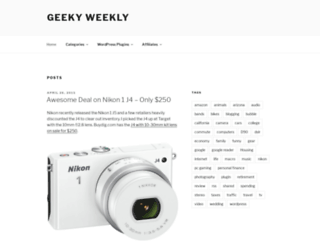 geekyweekly.com screenshot