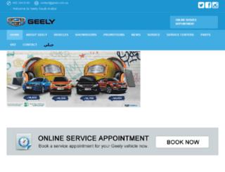 geely.com.sa screenshot