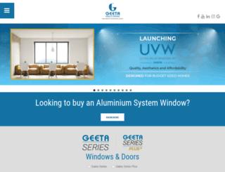 geetaaluminium.com screenshot