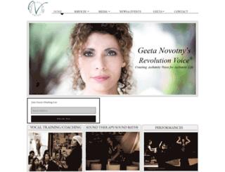 geetanovotny.com screenshot