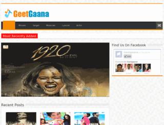 geetgaana.com screenshot