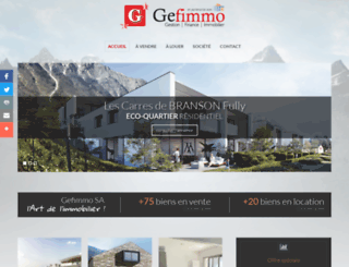 gefimmo.ch screenshot
