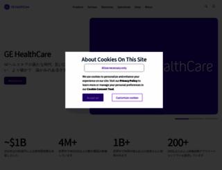 gehealthcare.co.jp screenshot
