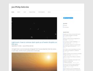 gehrcke.de screenshot