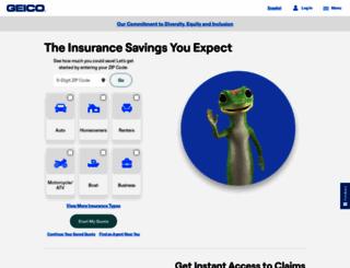 geico.com screenshot