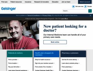 geisinger.edu screenshot