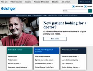 geisinger.org screenshot
