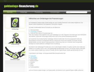 geldanlage-finanzierung.de screenshot