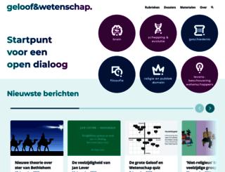 geloofenwetenschap.nl screenshot