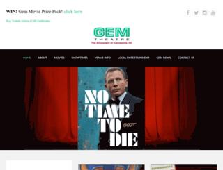 gem-theatre.com screenshot
