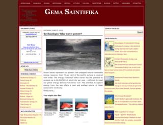 gemasaintifika.blogspot.com screenshot