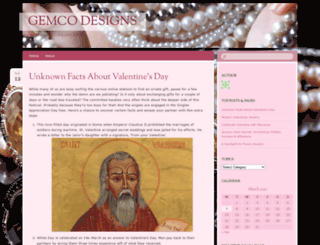 gemcodesigns.wordpress.com screenshot