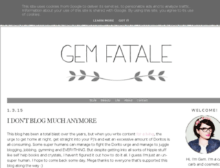 gemfatale.blogspot.co.uk screenshot