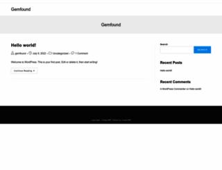 gemfound.com screenshot