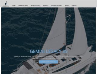 geminicatamarans.com screenshot