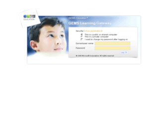 gemslearninggateway.com screenshot