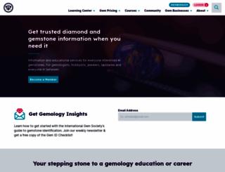 gemsociety.org screenshot