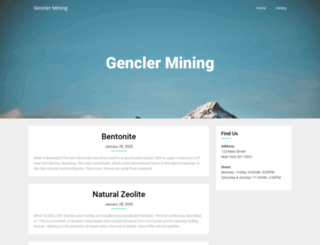 genclermining.com screenshot