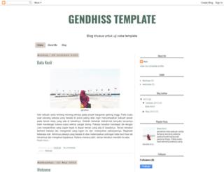 gendhisstemplate.blogspot.com screenshot