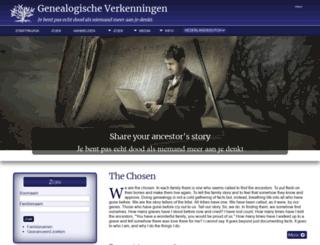 genealogs.nl screenshot