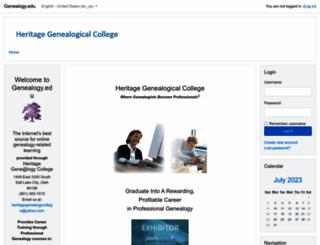 genealogy.edu screenshot