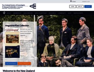 genealogy.org.nz screenshot