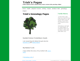 genealogy.trishs.net screenshot