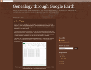 genealogythroughgoogleearth.blogspot.nl screenshot