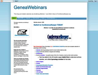 geneawebinars.com screenshot