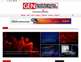 genengnews.com screenshot
