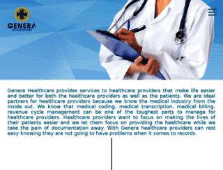 generahealthcare.com screenshot