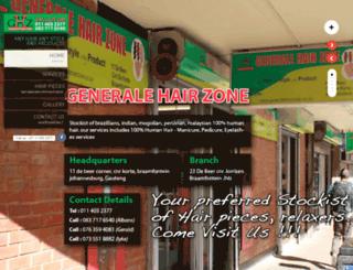 generalehairzone.co.za screenshot