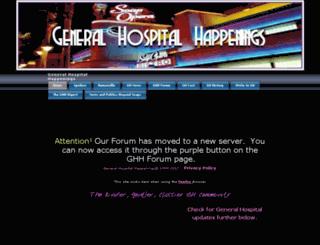 generalhospitalhappenings.com screenshot