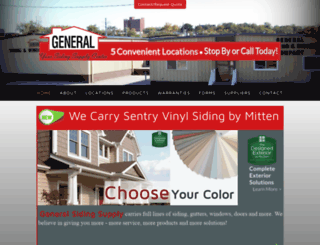 generalsiding.com screenshot
