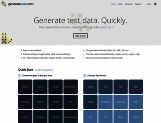 generatedata.com screenshot