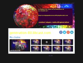 generation-80.libcast.com screenshot