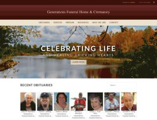generationsfuneral.tributecenteronline.com screenshot