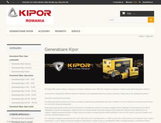 generatoare-kipor.com screenshot