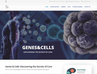 genesandcells.com screenshot