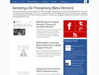 geneshya.blogspot.com screenshot