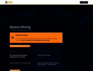 genesis-mining.com screenshot