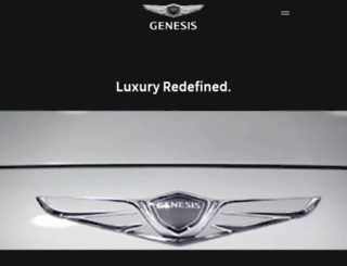 genesis.hyundai.com screenshot