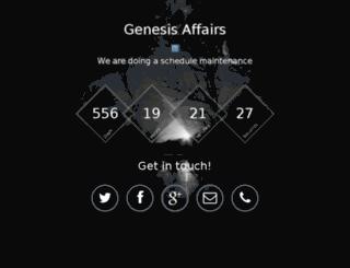 genesisaffairs.com screenshot