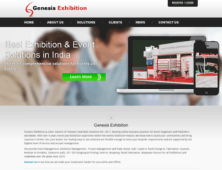 genesisexhibition.in screenshot