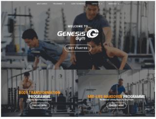 genesisgym.com.sg screenshot