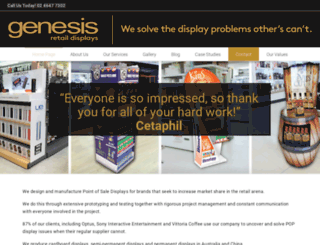 genesisinstoremarketing.com.au screenshot